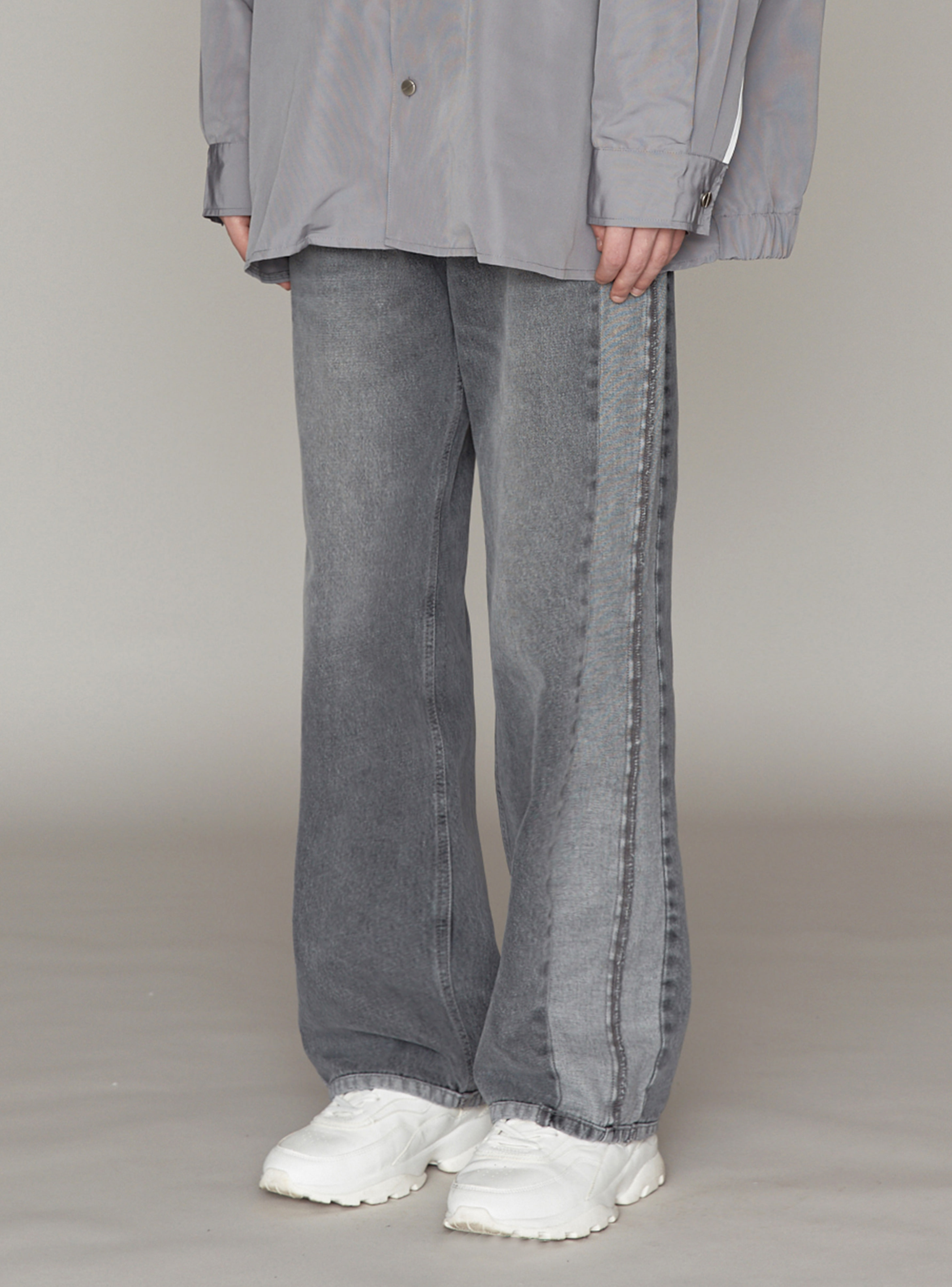 UGLY LONG WIDE DENIM GREY