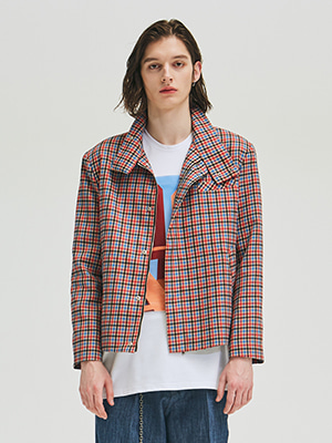 ADD CHECK BLOUSON MIX