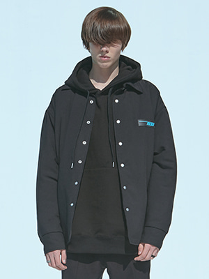 WOOL THINSULATE PUFFER SHIRT BLACK