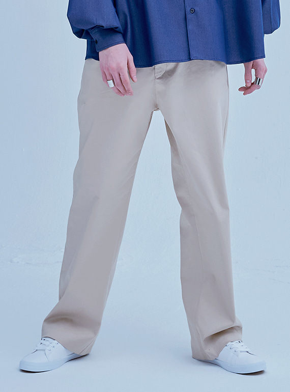 POCKET TWILL PANTS BEIGE