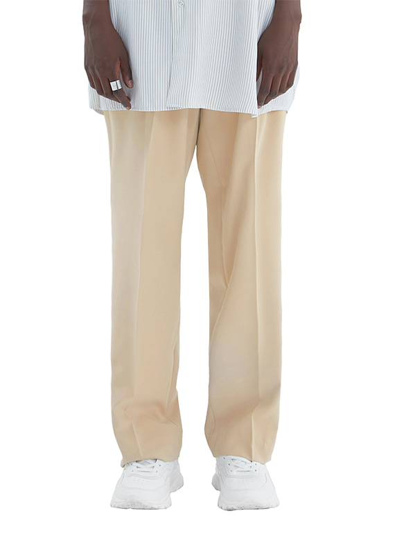 SUPER WIDE SLACKS_SS BEIGE