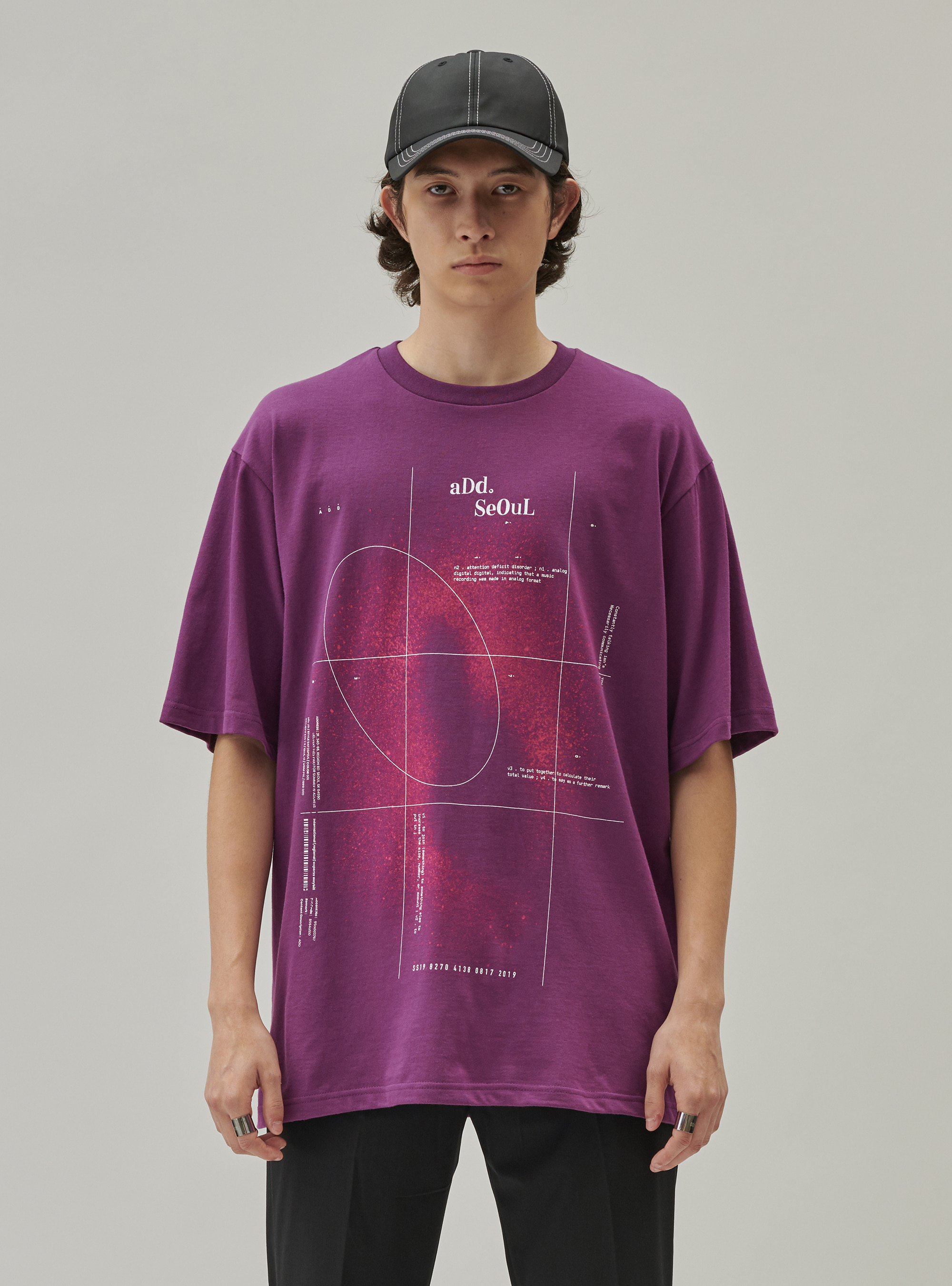ADD SPACE B TEE PURPLE