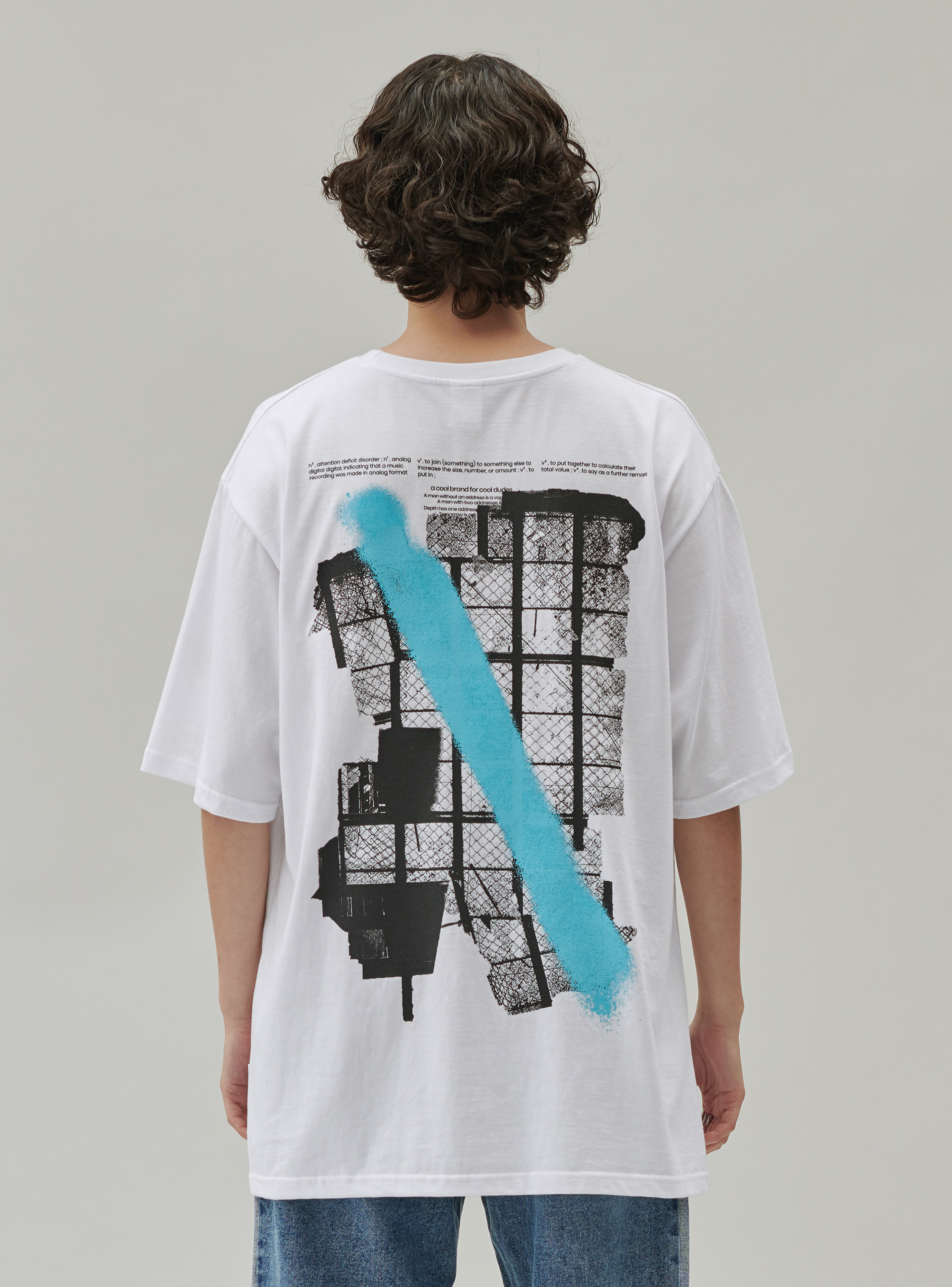 GRAPHIC SPRAY TEE WHITE