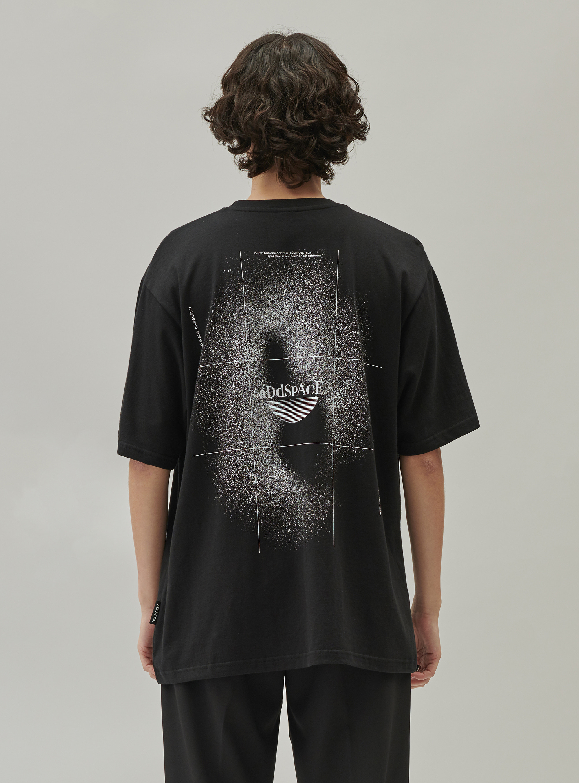 ADD SPACE C TEE BLACK