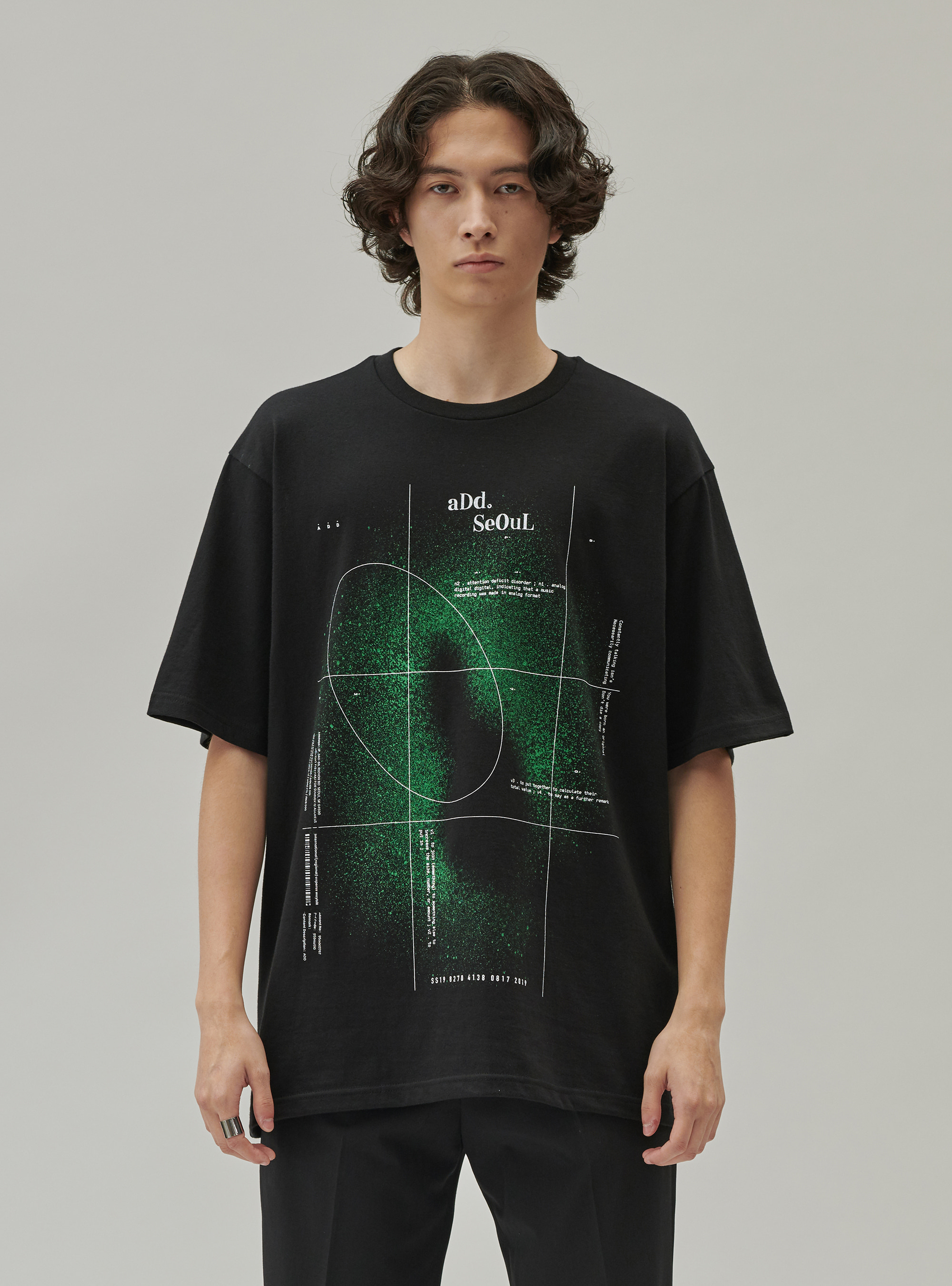 ADD SPACE B TEE BLACK