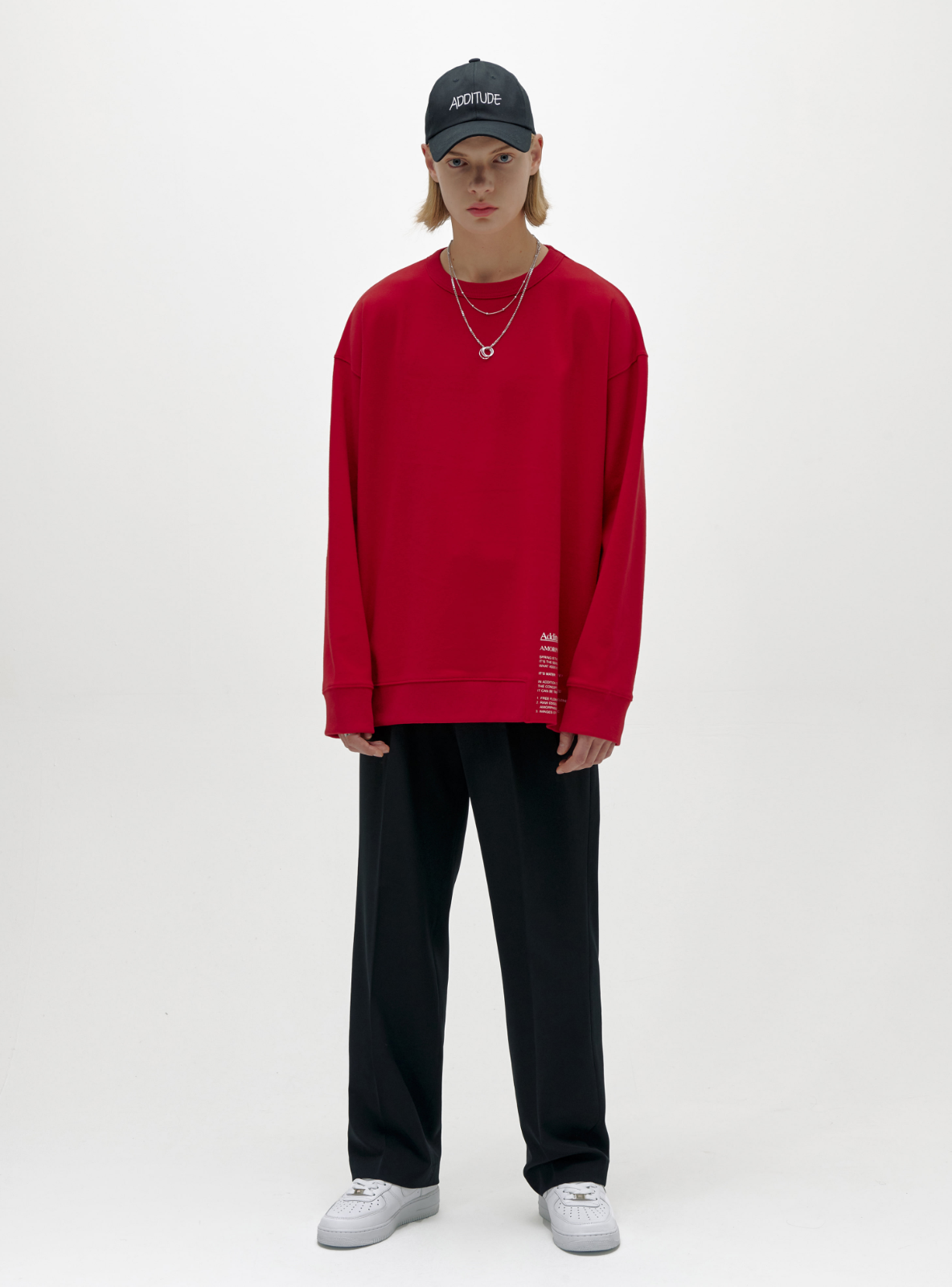 ADDITUDE No.3 SWEATSHIRT RED