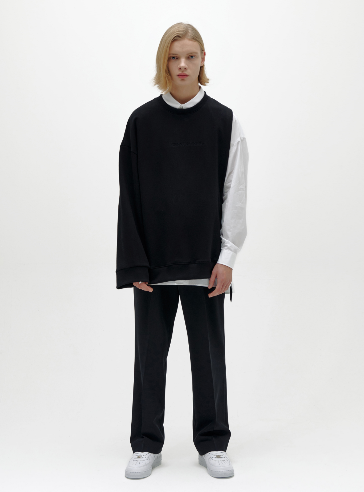 ANDROGYNOUS SWEATSHIRT BLACK