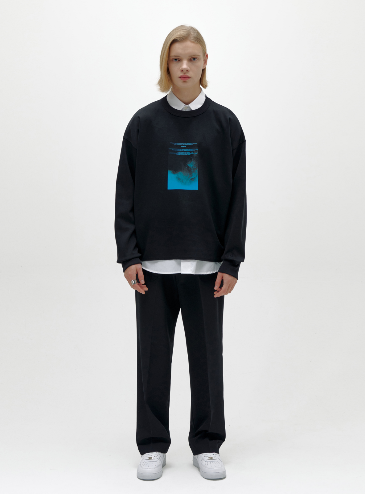 자체브랜드 - WATERCOLOR SWEATSHIRT BLACK