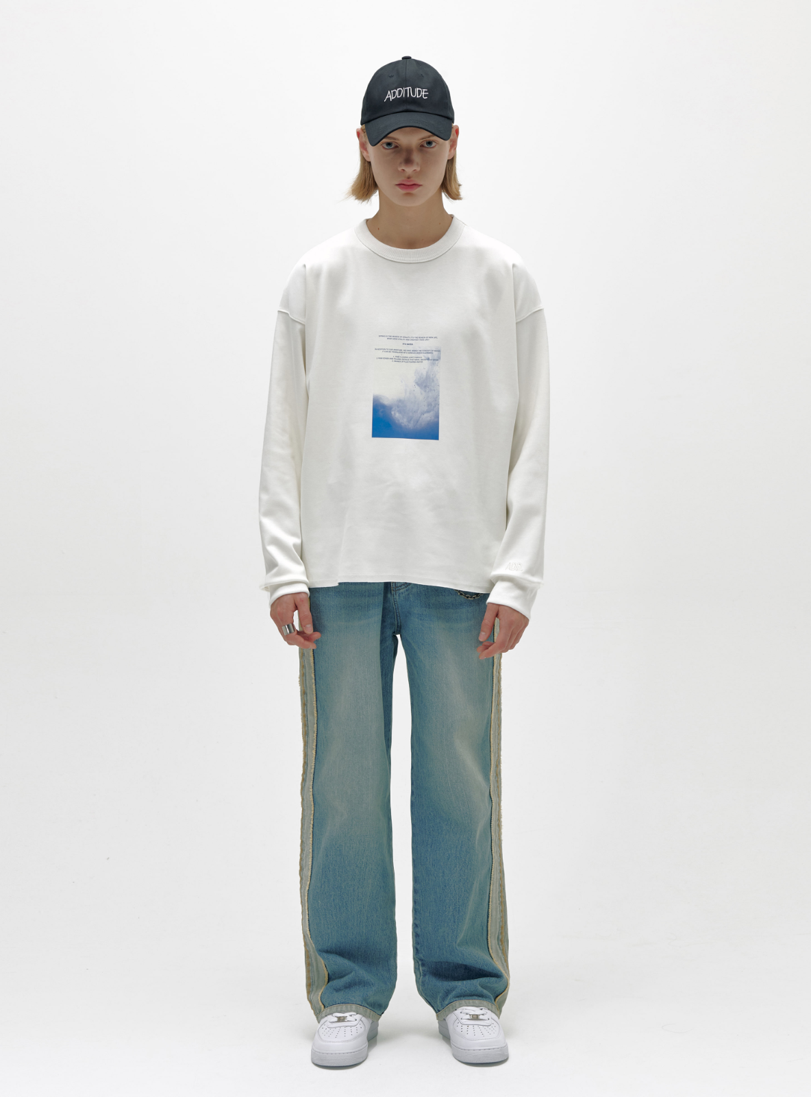 WATERCOLOR SWEATSHIRT WHITE