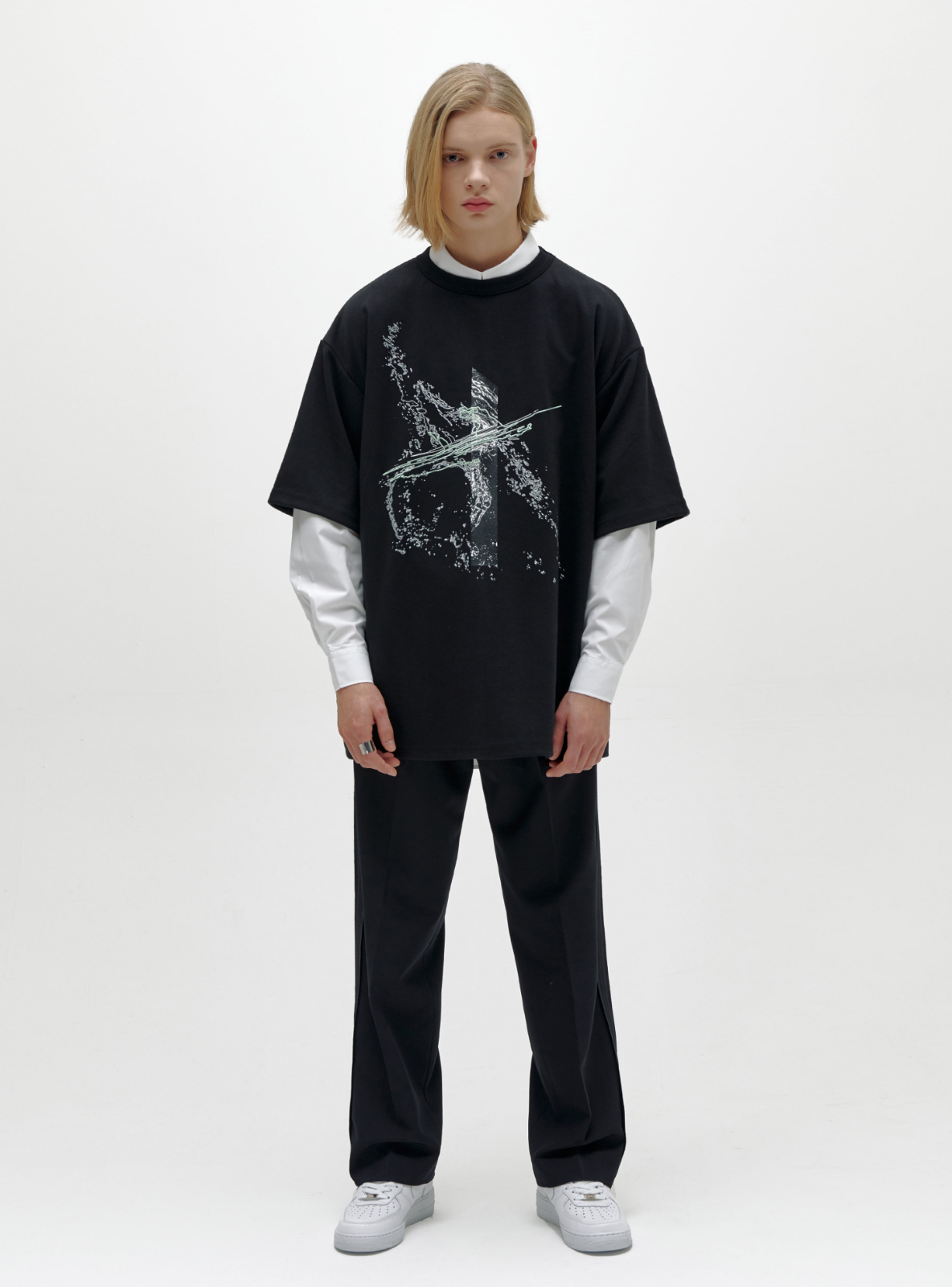 SPLASH AVANTGARDE T-SHIRT BLACK