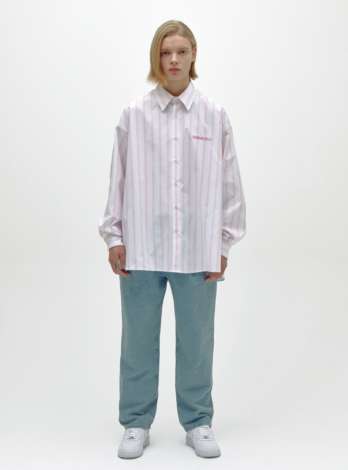 자체브랜드 - ADDITUDE No.1 AVANTGARDE SHIRT PINK