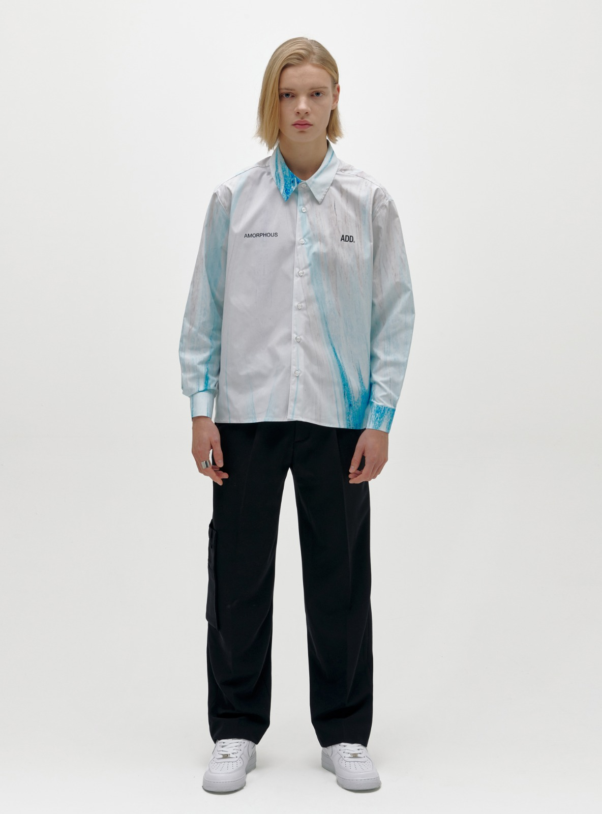자체브랜드 - AMORPHOUS SHIRT ABSTRACT BLUE