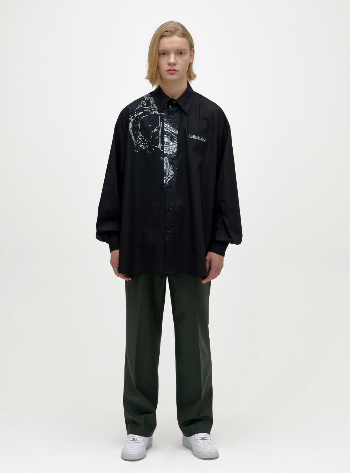 SPLASH AVANTGARDE SHIRT BLACK