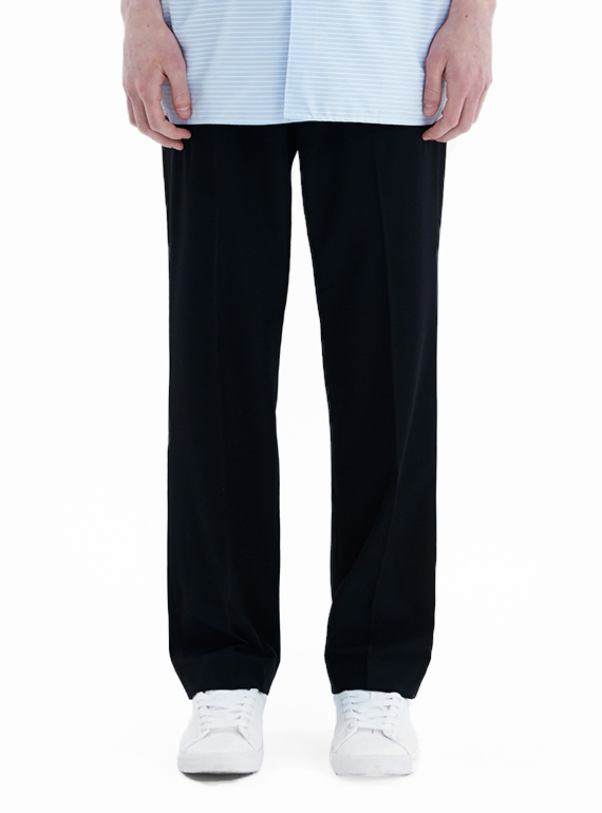LONG WIDE SLACKS_SS BLACK