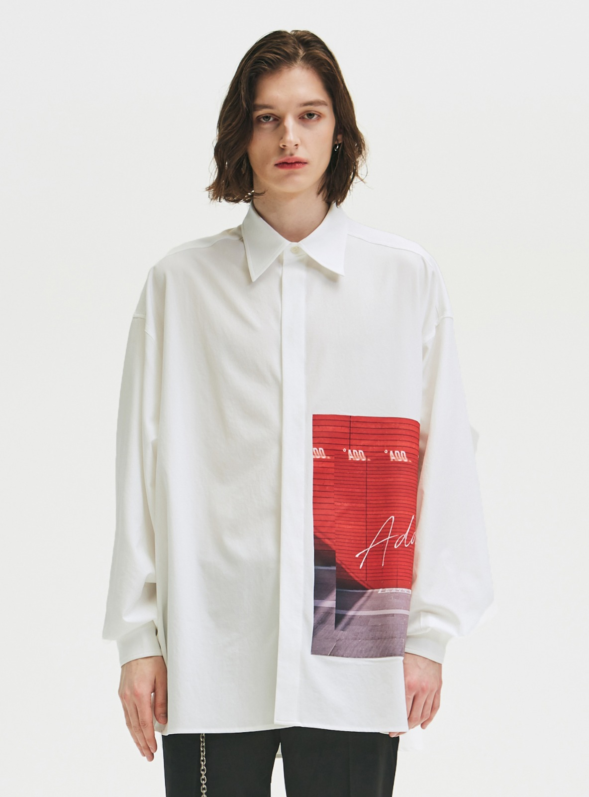 GRAPHIC OVERSIZED SHIRTS WHITE