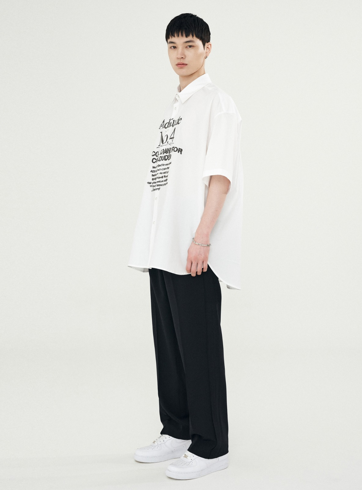 UGLY SUPER WIDE SLACKS BLACK