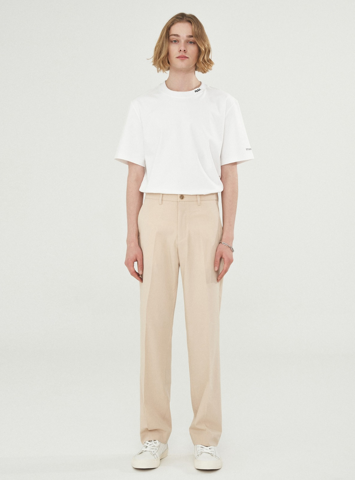 자체브랜드 - LONG WIDE SLACKS BEIGE_SS