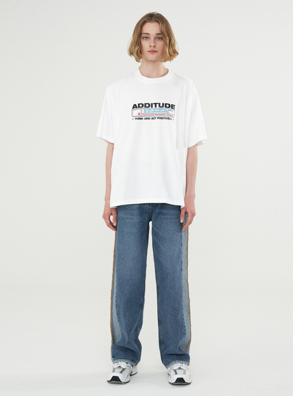 ADDITUDE STAMP TEE WHITE
