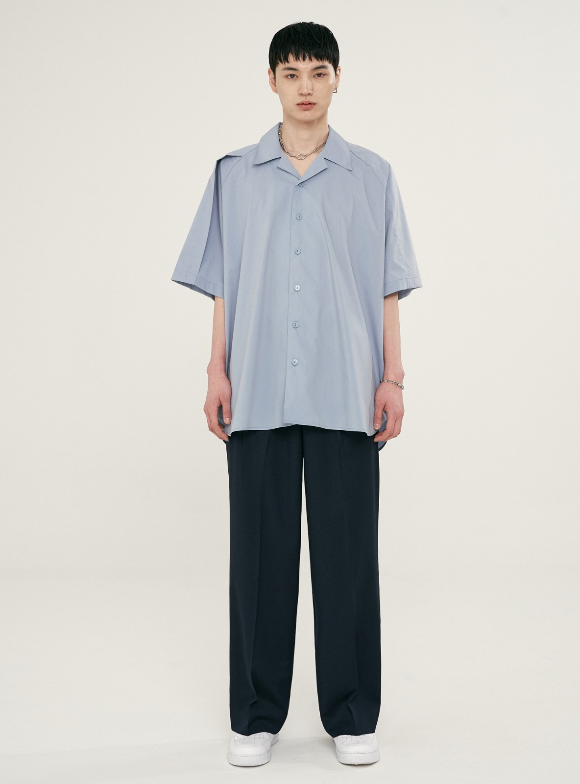 FOLDED AVANTGARDE SHIRT BLUE GREY
