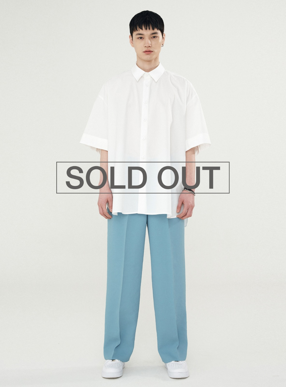 BACK PLEATS SHIRT WHITE