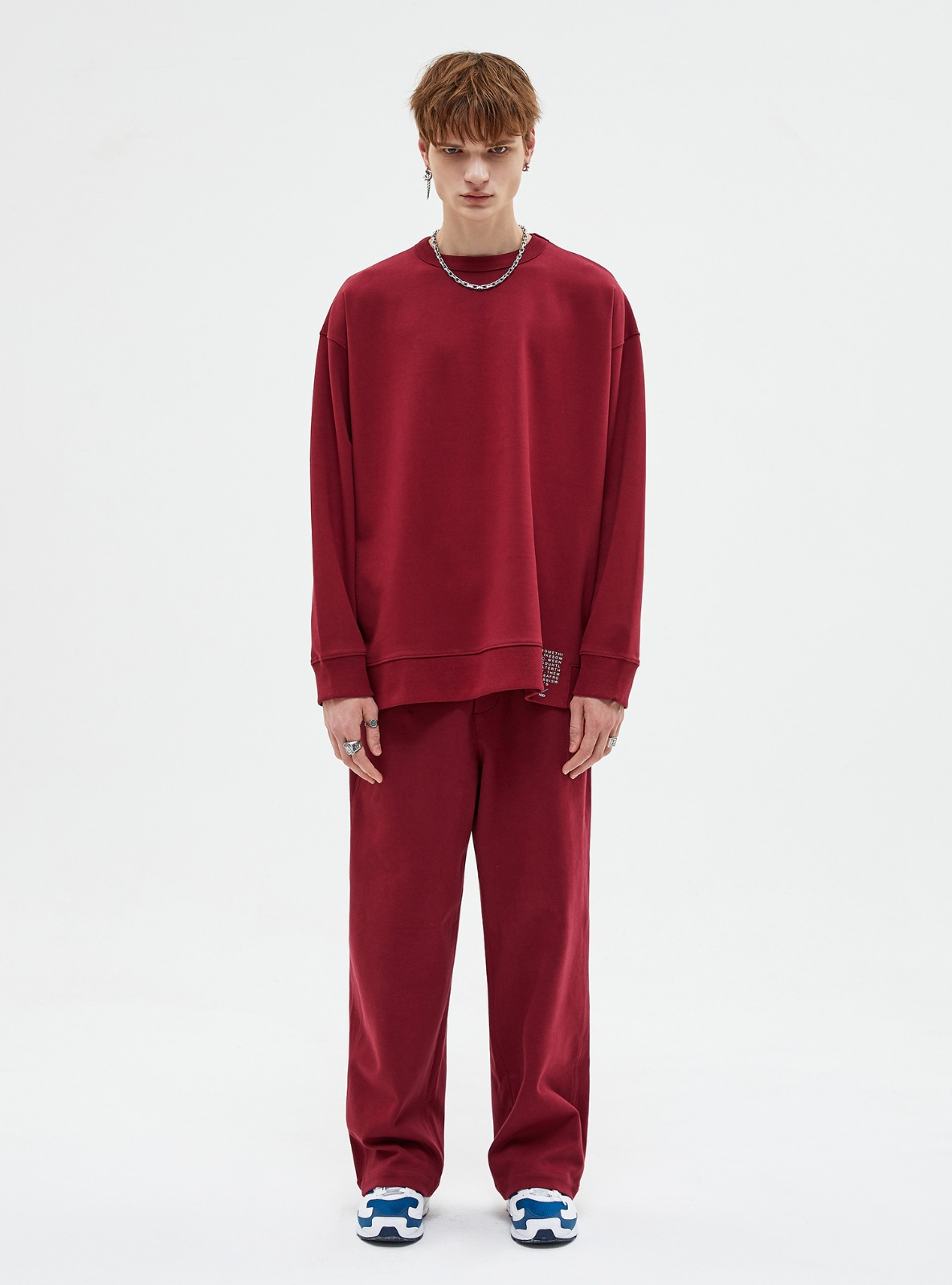 자체브랜드 - SET-UP TRAINING SWEATPANTS BURGANDY