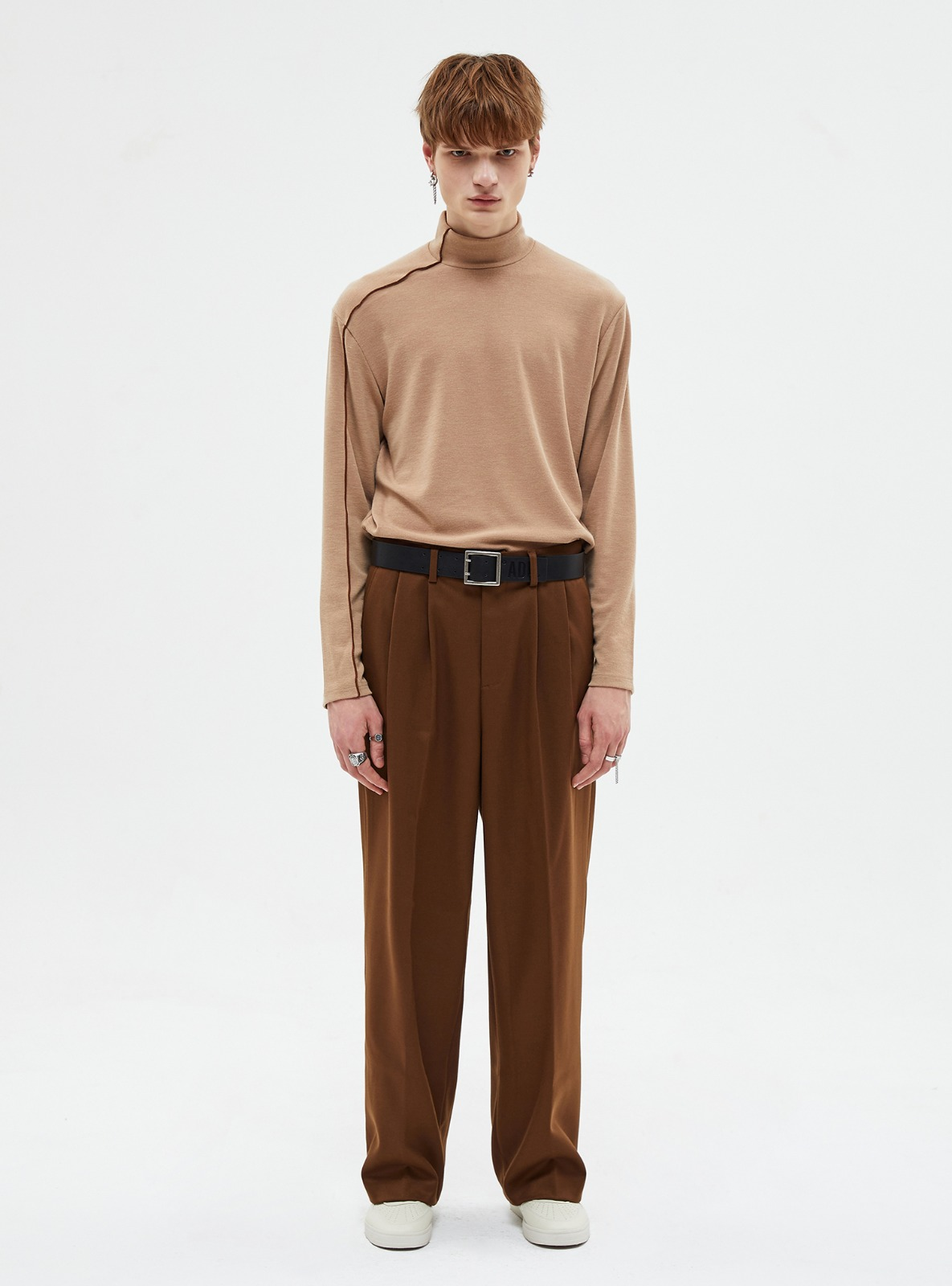 자체브랜드 - EXTRA SUPER WIDE SLACKS DARK BROWN_FW