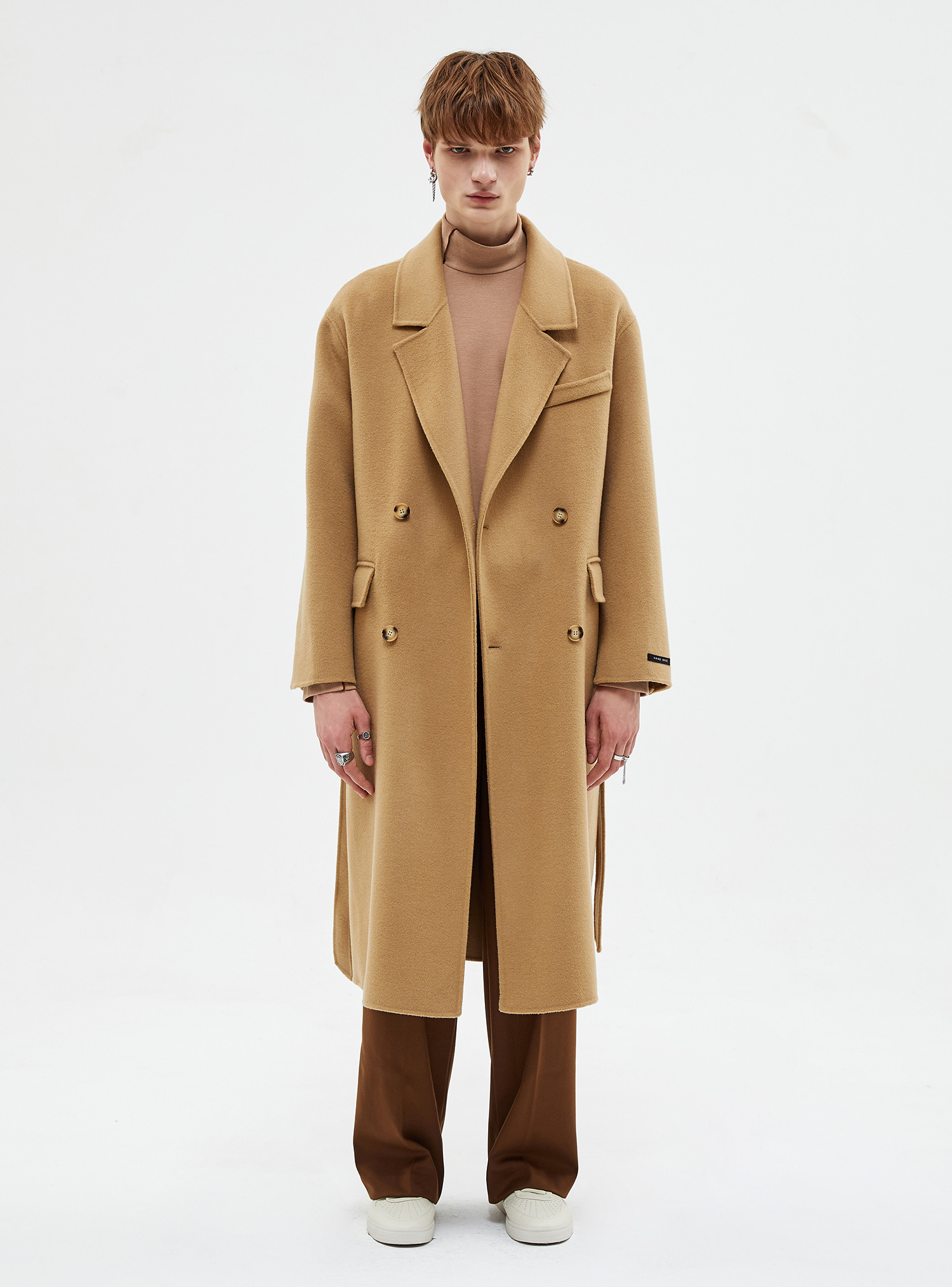 자체브랜드 - ESSENTIAL HANDMADE WOOL COAT BEIGE