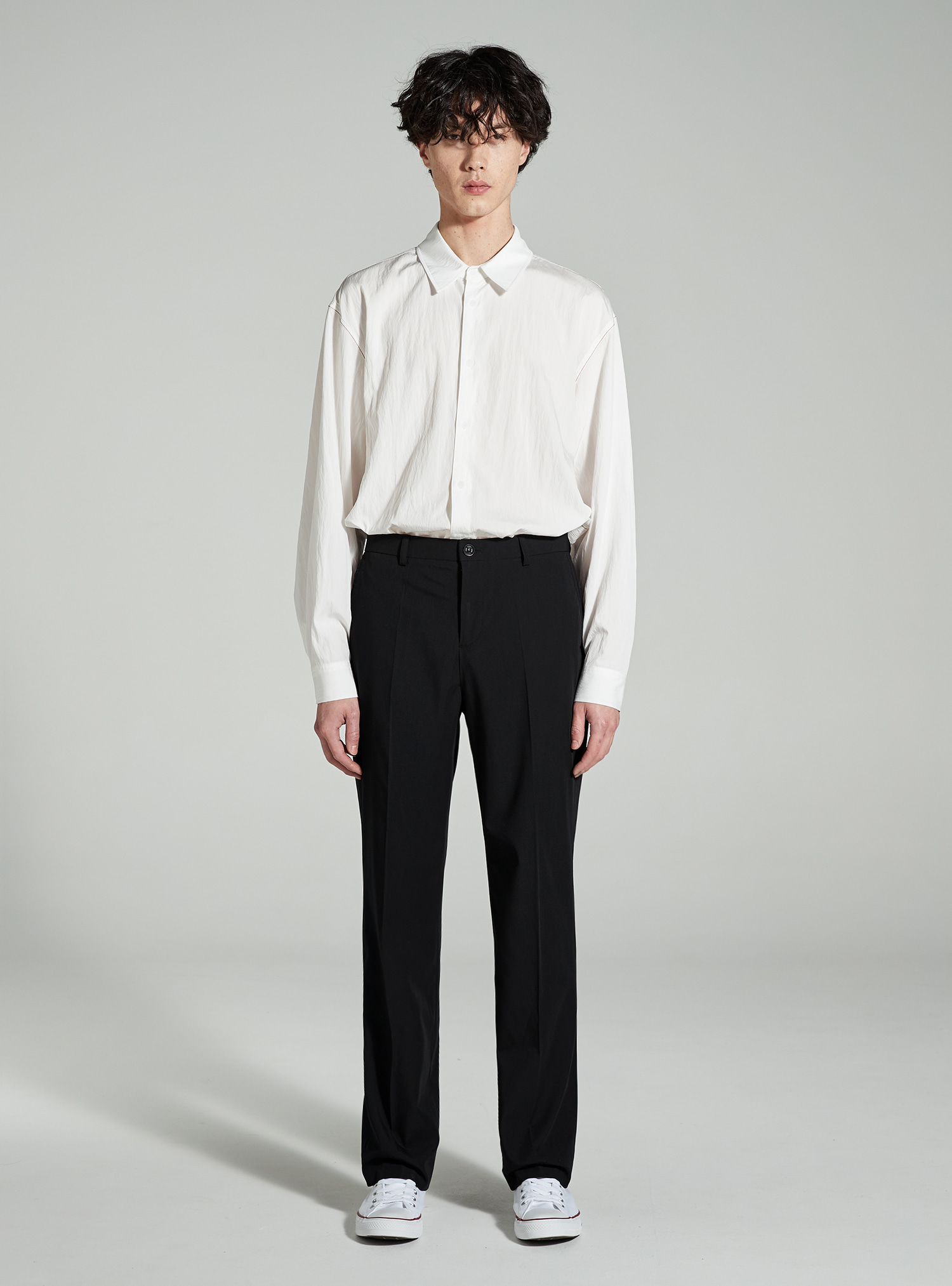 자체브랜드 - LONG WIDE SLACKS BLACK_SS