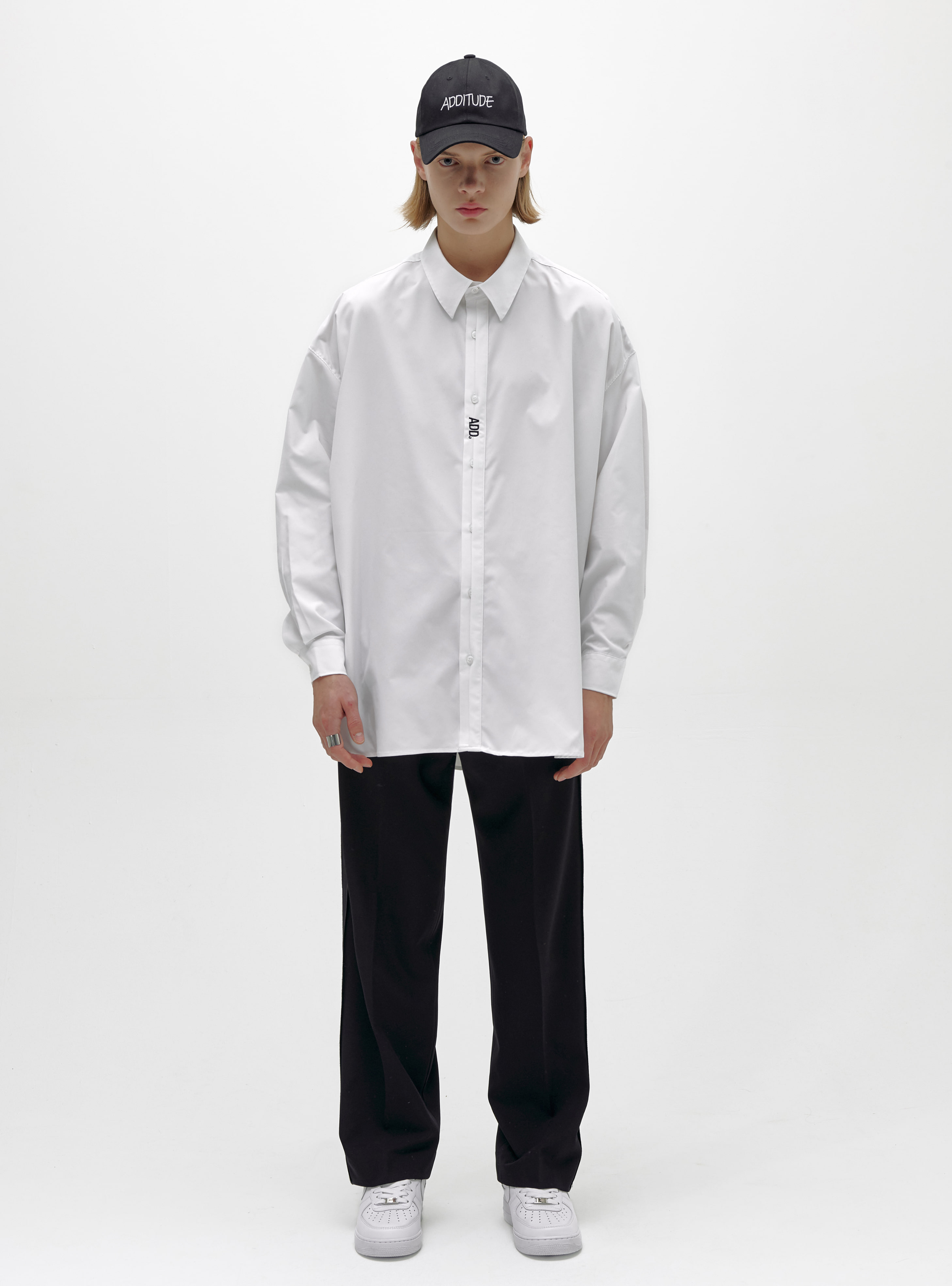 FOLDED PLACKET SHIRT WHITE