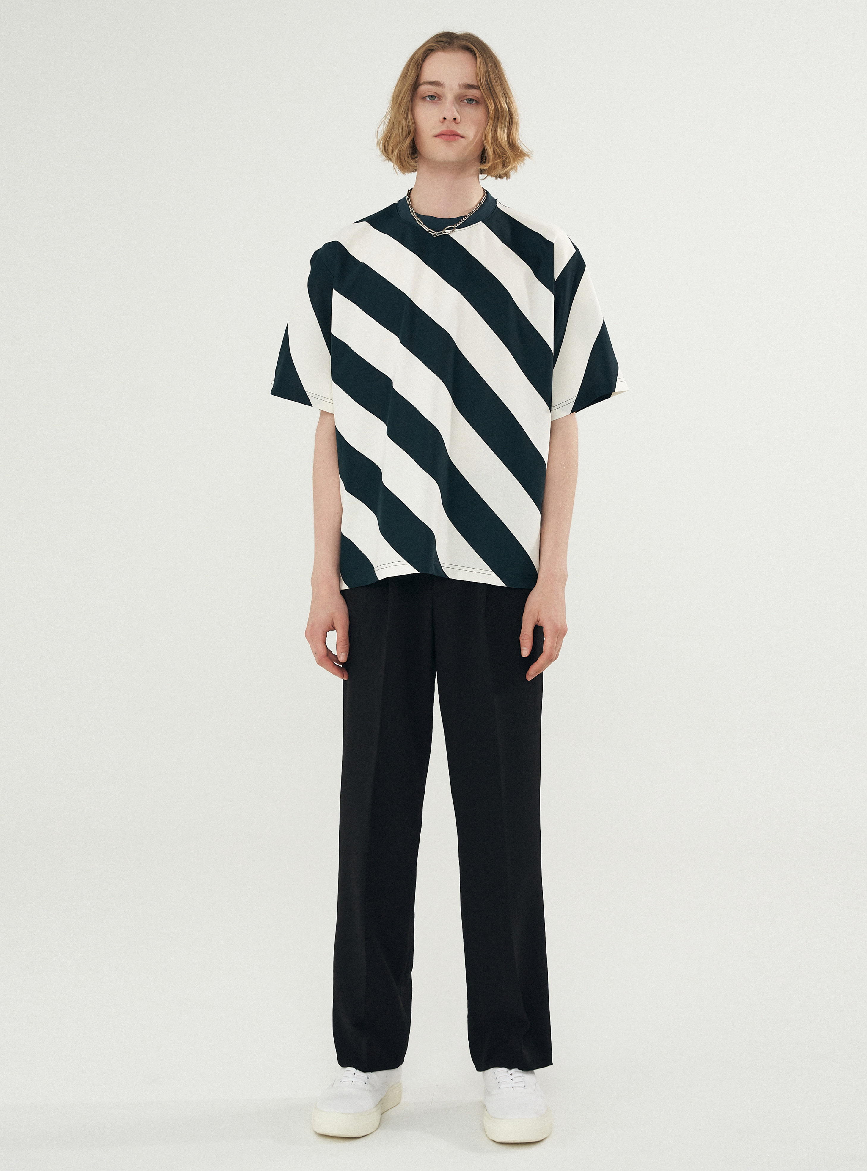 BOLD STRIPE TEE GREEN