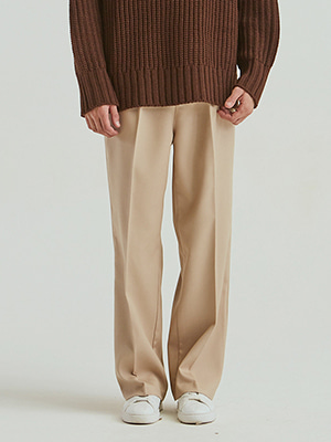 BULK UP SUPER WIDE SLACKS BEIGE