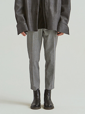 HOUND CHECK LEG SLACKS GREY