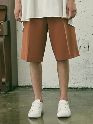 BANDING SUPER WIDE SHORTS BROWN