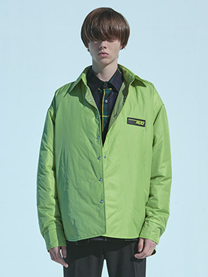NYLON THINSULATE PUFFER SHIRT GREEN