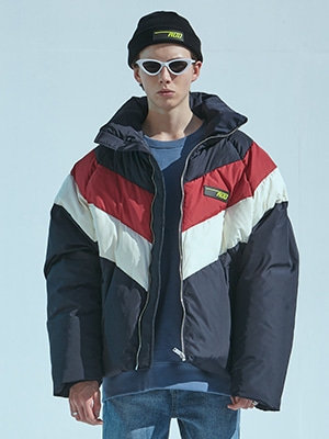 HEAVY DUCK PUFFER JACKET NAVY