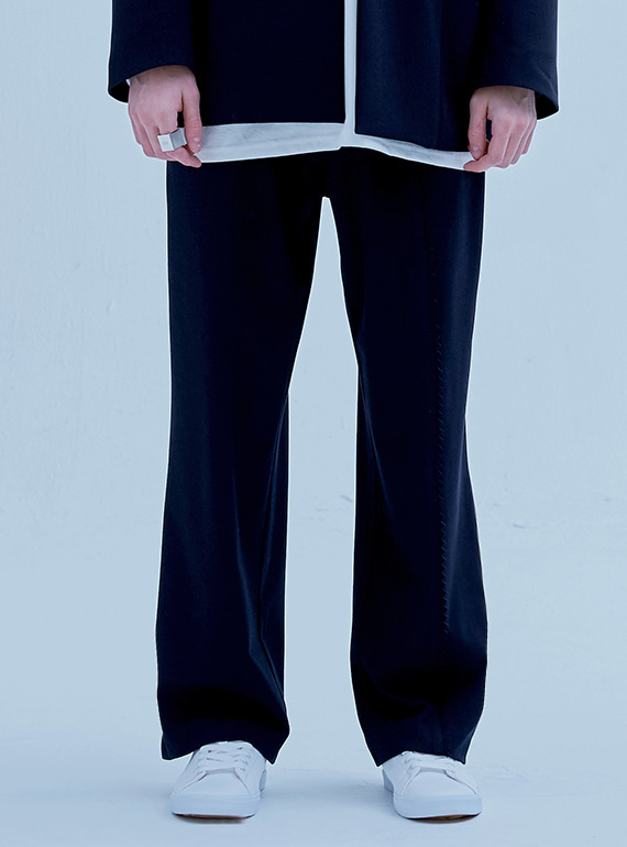 STAMP EDGE SUIT PANTS NAVY