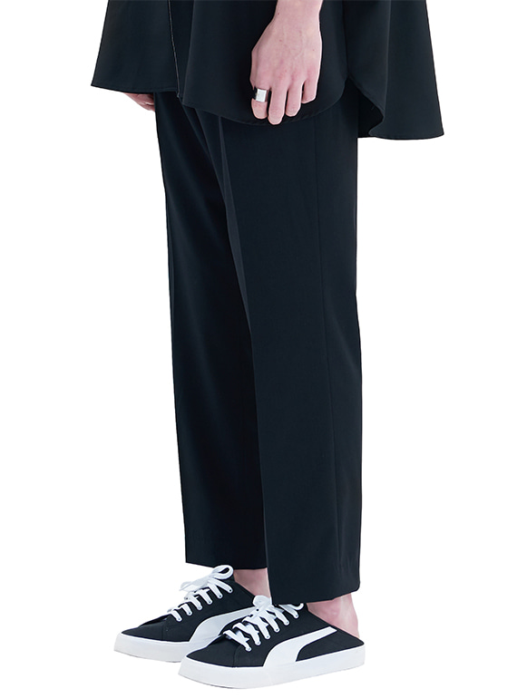 CROP WIDE SLACKS_SS BLACK