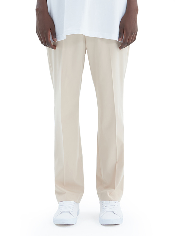 ADD STRAIGHT SLACKS BEIGE