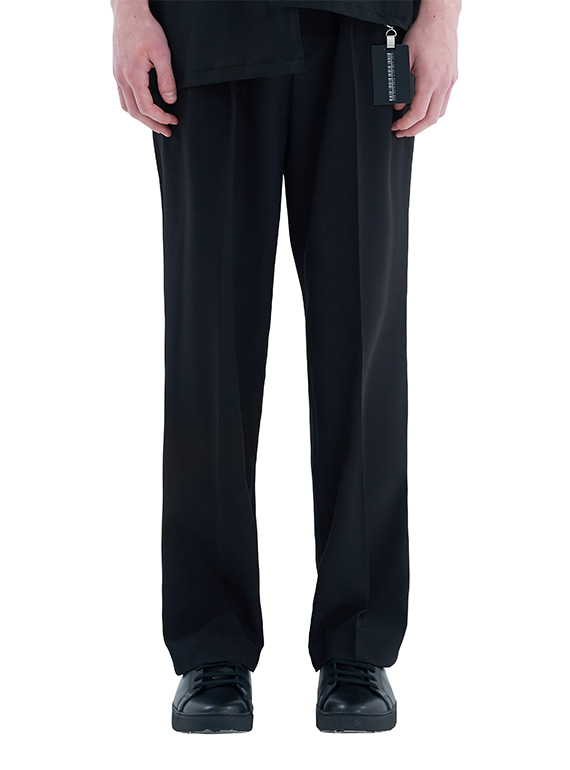 SUPER WIDE SLACKS_SS BLACK [PRE-ORDER 8/30]