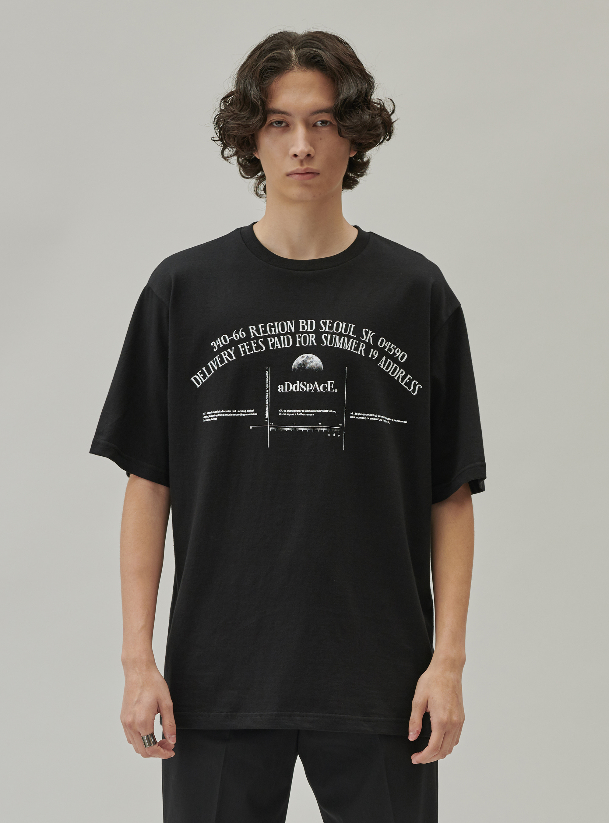 ADD SPACE LETTERING TEE BLACK
