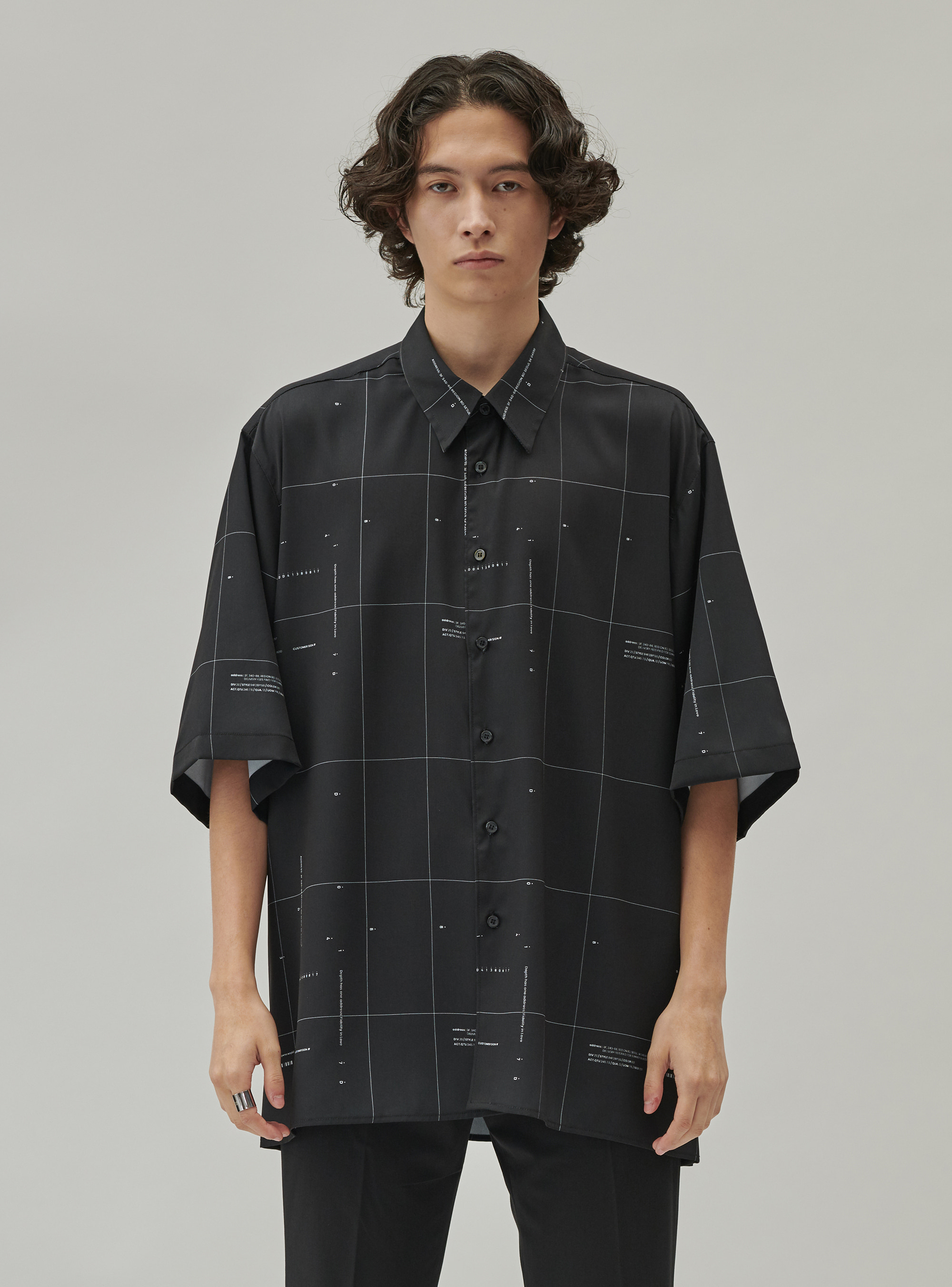 GRID STANDARD SHIRT BLACK