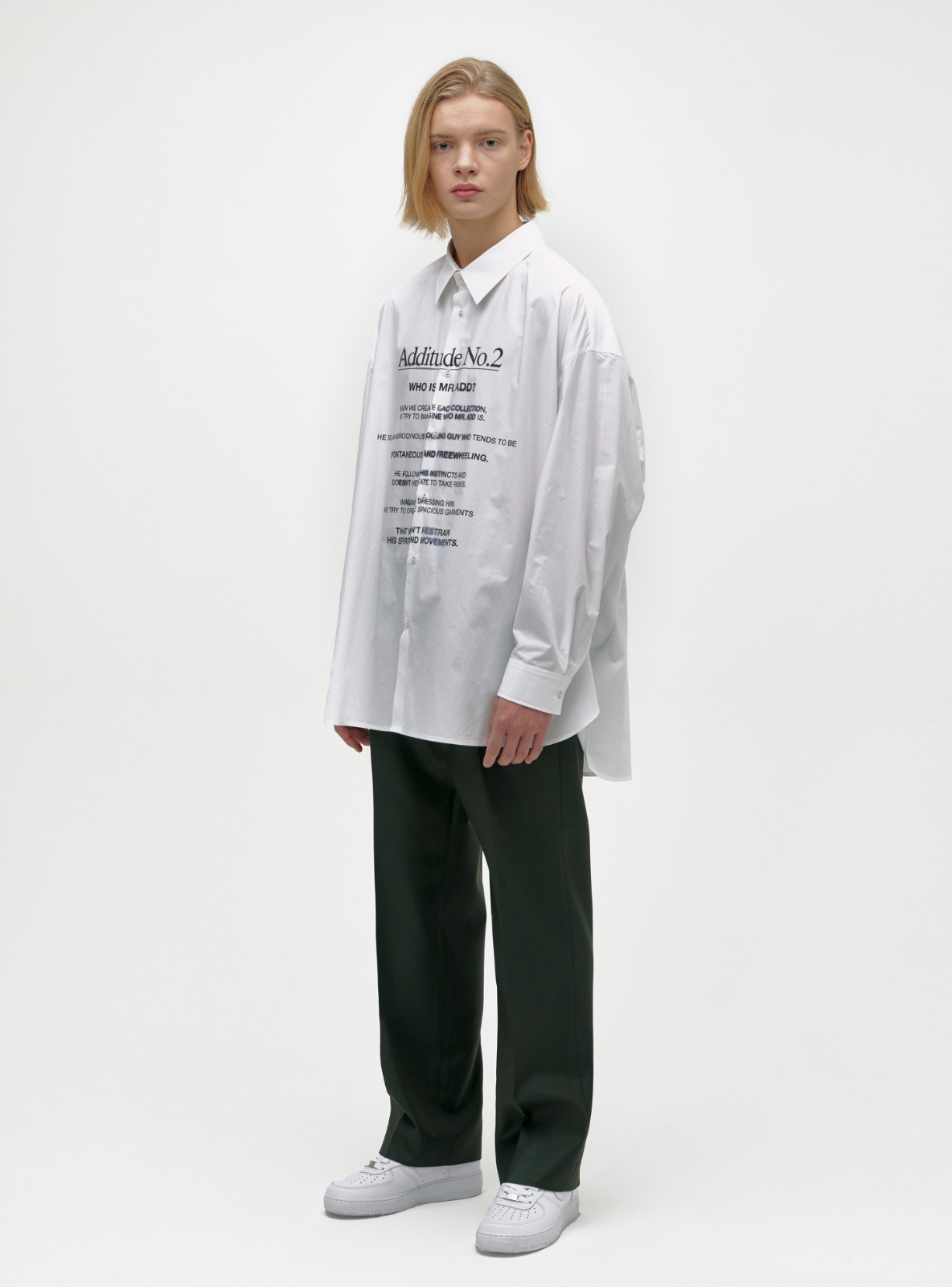 ADDITUDE No.2 SHIRT WHITE