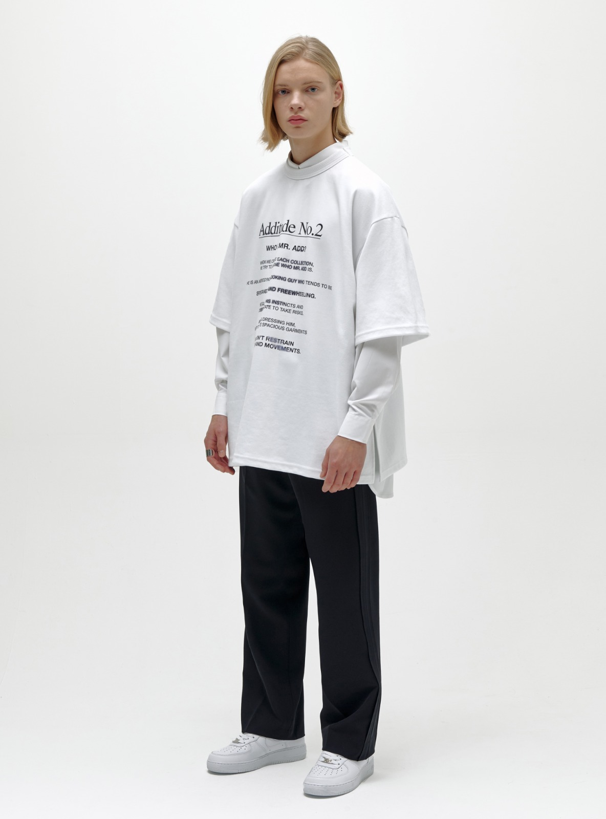 ADDITUDE No.2 AVANTGARDE T-SHIRT WHITE