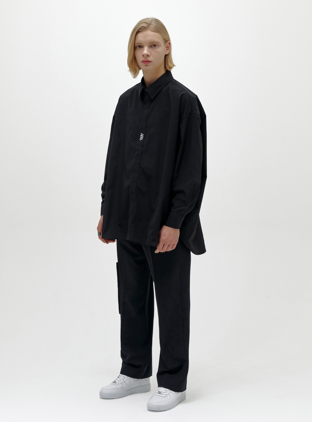 FOLDED PLACKET SHIRT BLACK