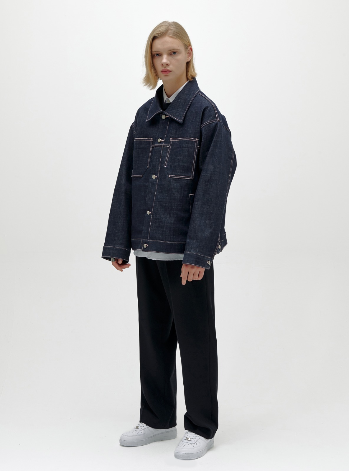 INDIGO DENIM TRUCKER JACKET INDIGO