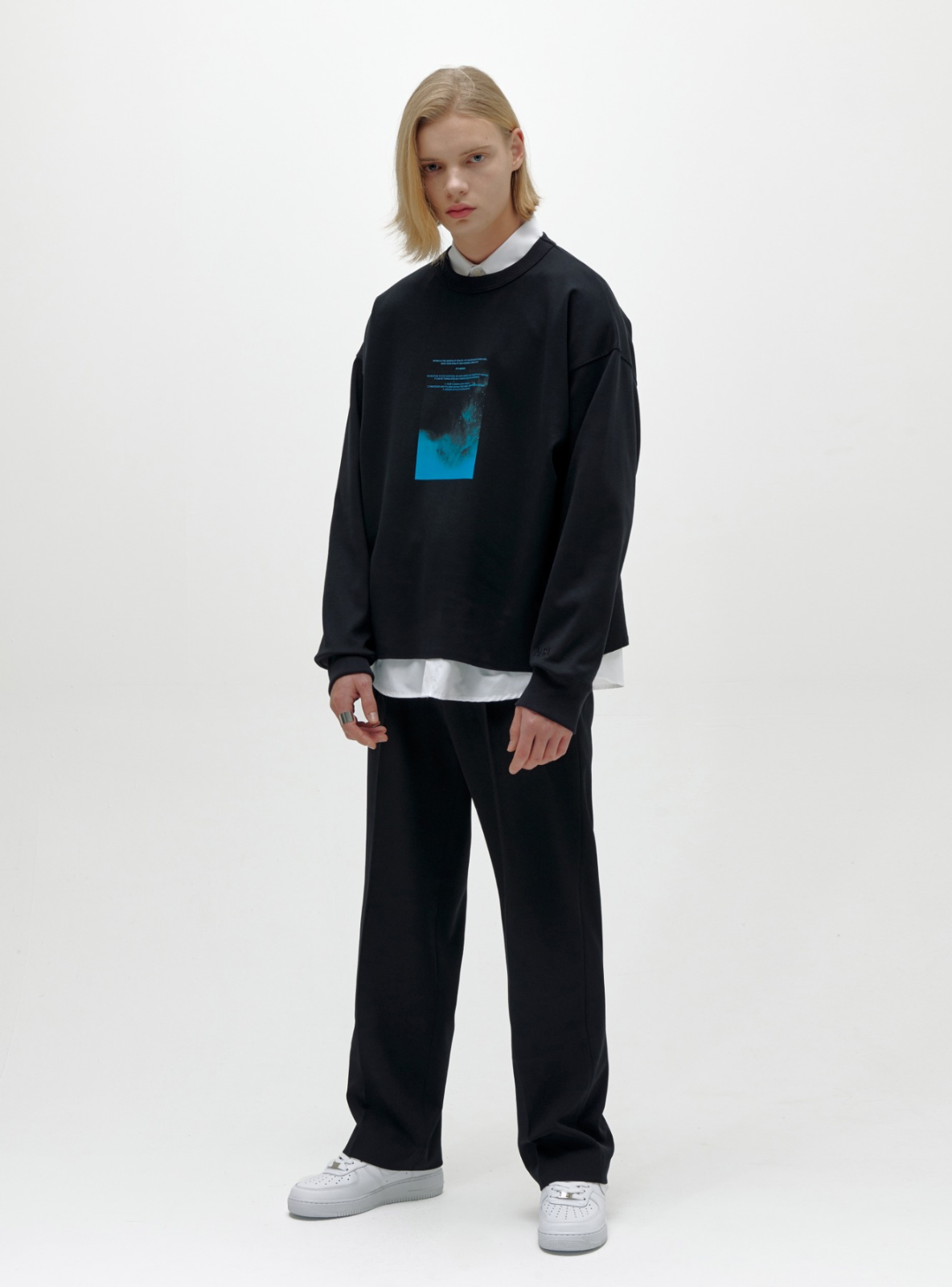 WATERCOLOR SWEATSHIRT BLACK