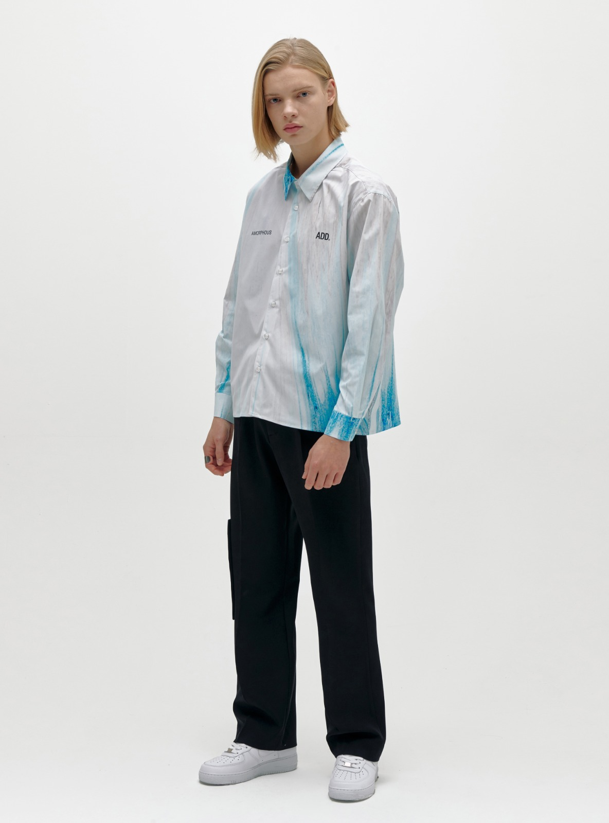 AMORPHOUS SHIRT ABSTRACT BLUE