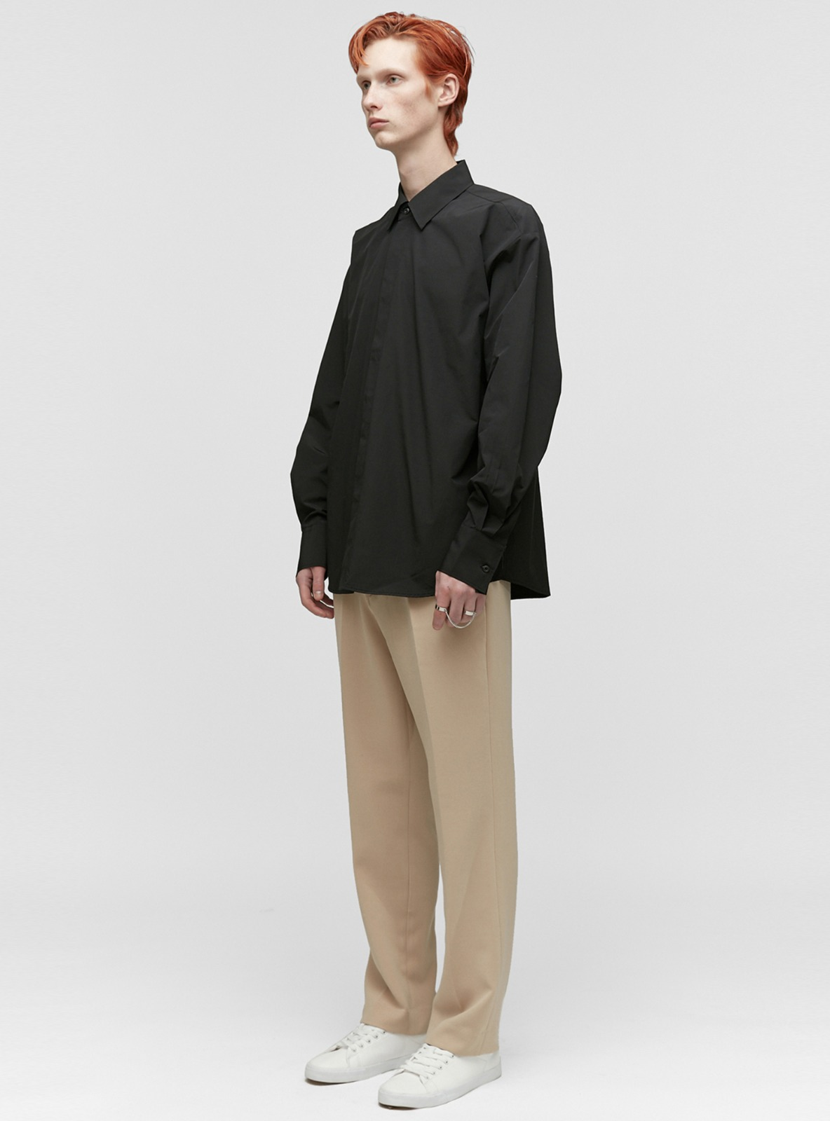 LONG WIDE SLACKS_F BEIGE