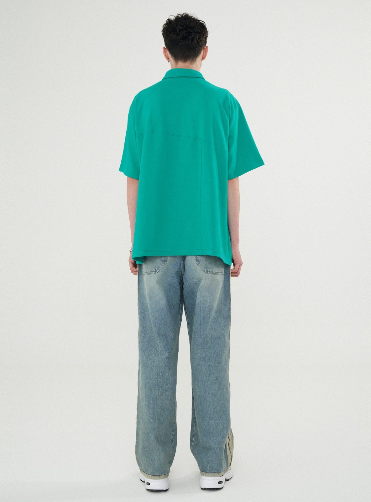 TWIST PATTERN PIQUE TEE EMERALD GREEN