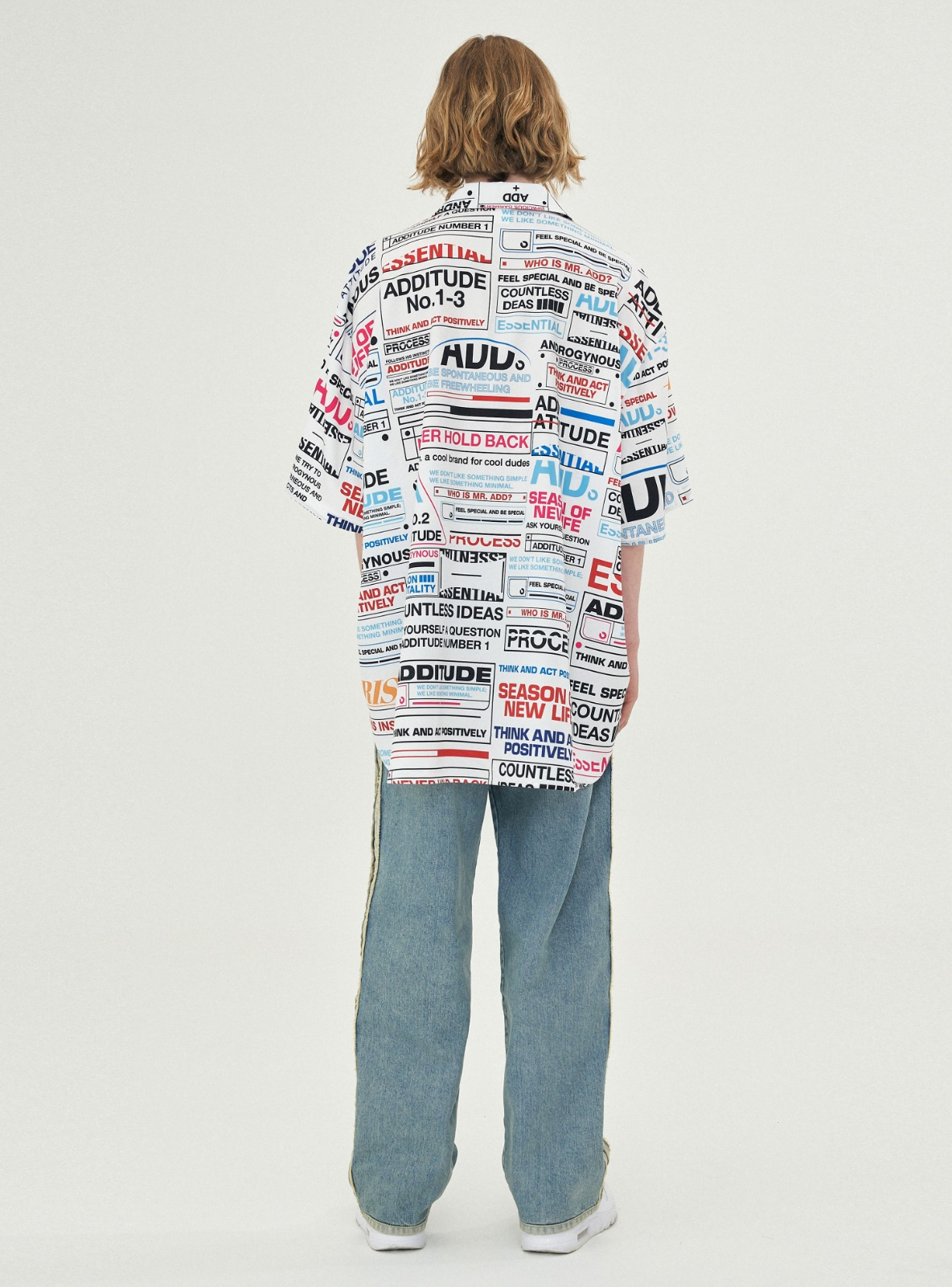 ADDITUDE PRINTED AVANTGARDE SHIRT WHITE